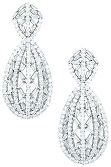 Silver plated faux earrings by ASTER