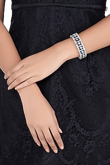 Silver plated faux diamond and sapphire bracelet by Aster