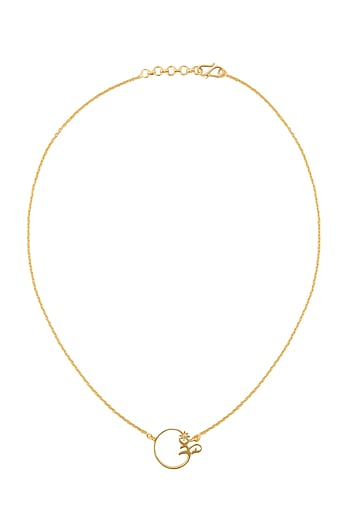 Gold Finish Handcrafted Om Necklace by Eina Ahluwalia