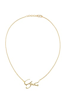 Gold Finish Arabic Necklace by Eina Ahluwalia