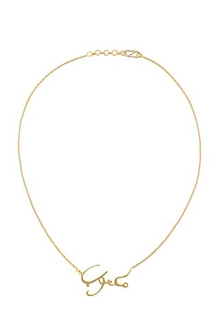 Gold Finish Arabic Necklace by Eina Ahluwalia