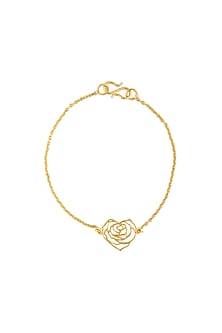Gold Finish Handcrafted Love Bracelet by Eina Ahluwalia