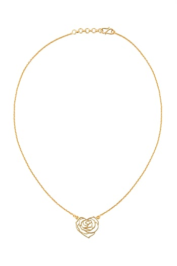 Gold Finish Handcrafted Love Necklace by Eina Ahluwalia