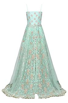Light Blue Embellished Anarkali with Skirt by Architha Narayanam