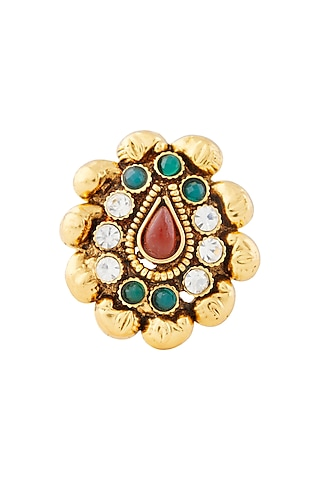 Gold Finish Ring by Auraa Trends