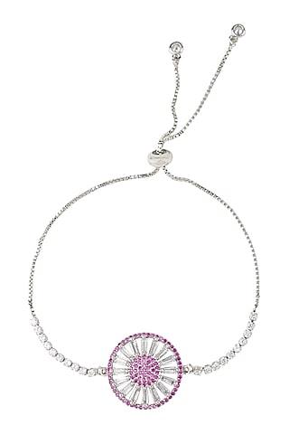 White Finish Rakhi Bracelet by Auraa Trends