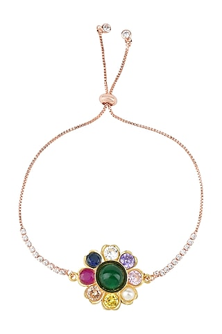 Gold Plated Rakhi Bracelet by Auraa Trends