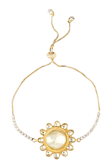 Gold Plated Rakhi Bracelet With Adjustable Clasp by Auraa Trends-SEND RAKHIS TO AUSTRALIA