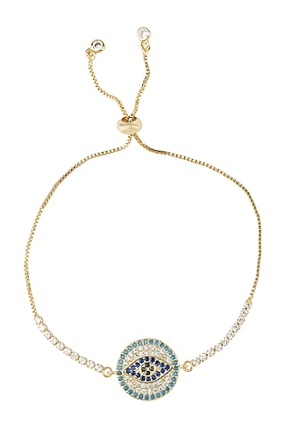 White Finish Adjustable Rakhi Bracelet by Auraa Trends