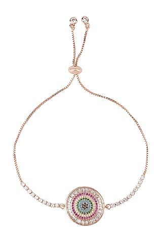 Gold Plated Adjustable Clasp Rakhi Bracelet by Auraa Trends