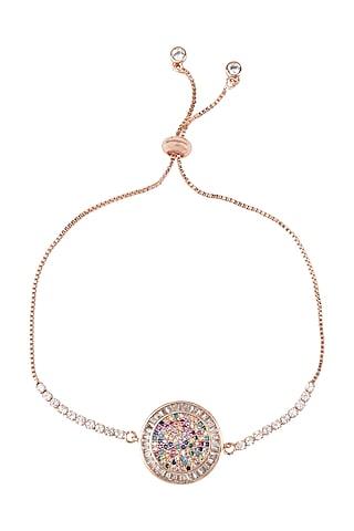 Rose Gold Finish Rakhi Bracelet by Auraa Trends