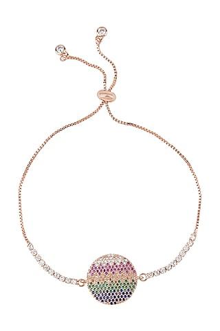 Rose Gold Finish Ajustable Rakhi Bracelet by Auraa Trends
