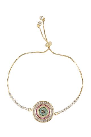 Rose Gold Finish Rakhi Bracelet Having Ajustable Clasp by Auraa Trends