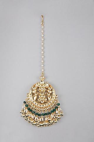 Gold Plated Chaandbaali Earrings by Auraa Trends