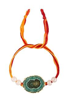 Semi-Precious Turquoise Stone Rakhi by Auraa Trends
