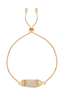 Gold Polish Semi-Precious Stone Bracelet Rakhi by Auraa Trends
