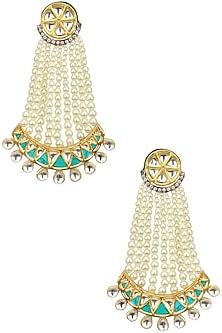Kundan and Pearl Green Chaanbali by Auraa Trends