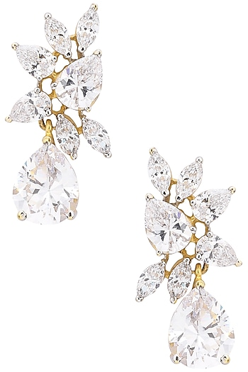 Silver Finish Earrings by Auraa Trends