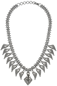 Antique Silver Finish Eagle Wings Necklace by Auraa Trends