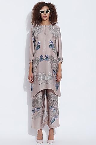 Grey Printed Tunic by Aartivijay Gupta