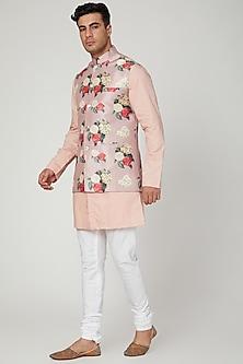Copper Printed Nehru Jacket by Ankit V Kapoor