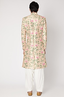 Blush Pink Embroidered Sherwani Set by Ankit V Kapoor