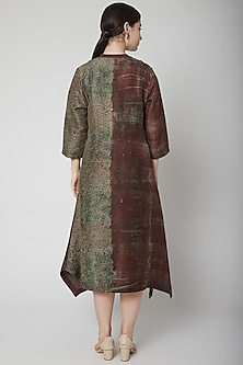Brown Hand Block Printed Kurta by Avni Bhuva
