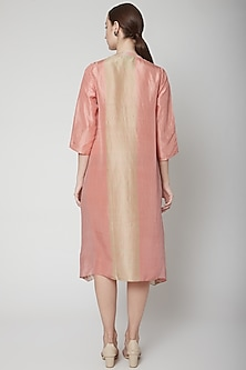 Blush Pink Printed Long Kurta by Avni Bhuva