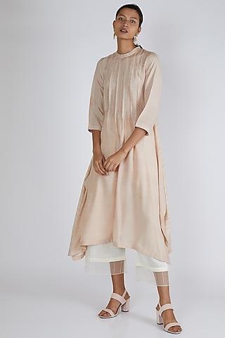 Beige Silk Tunic by Avni Bhuva