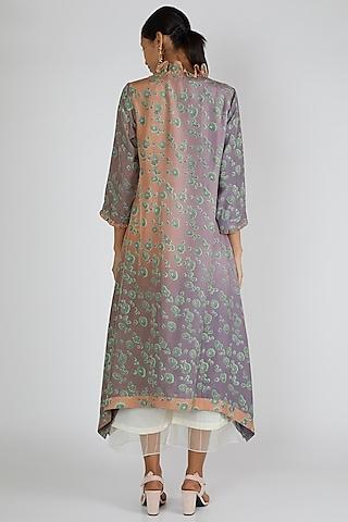 Beige & Grey Asymmetric Tunic by Avni Bhuva