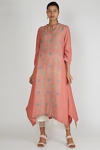 Peach Asymmetric Tunic by Avni Bhuva