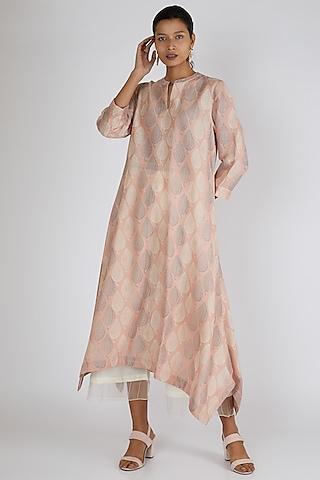 Blush Pink Printed Tunic by Avni Bhuva