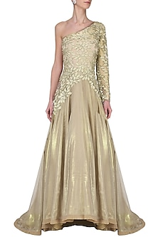 Gold Embroidered Gown by Avdi