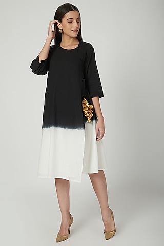 Black Ombre Wrap Dress  by Ayinat By Taniya O'Connor