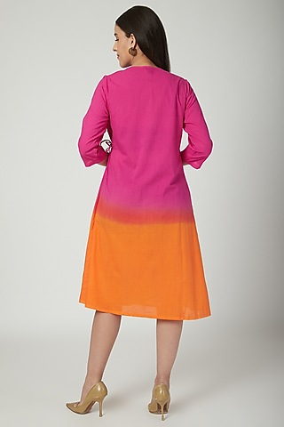 Fuchsia Ombre Wrap Dress  by Ayinat By Taniya O'Connor