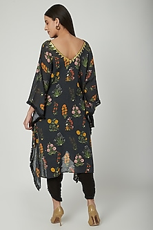 Black Embroidered & Printed Kaftan With Pants by Ayinat By Taniya O'Connor