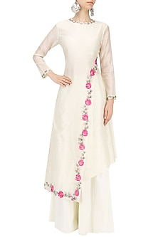 Offwhite Handpainted Kurta Set by Baavli
