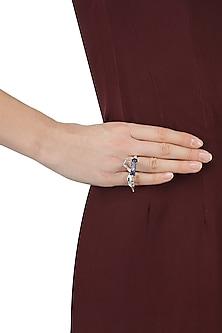 Silver Finish Lapis Lazuli Ring by Bansri