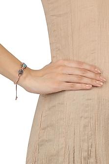 Rose Gold Swarovski Crystals Panther Face Bracelet by Bansri