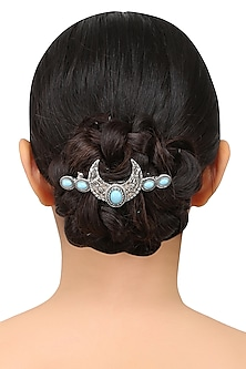 Rhodium Plated U Shaped Motif Hairpin by Bansri