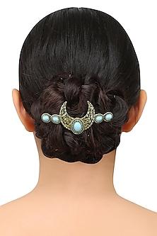 Gold Plated U Shaped Motif Hairpin by Bansri
