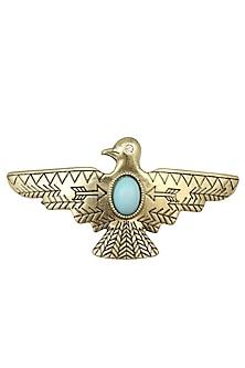 Rhodium Gold Plated Bird Shape Hairpin by Bansri