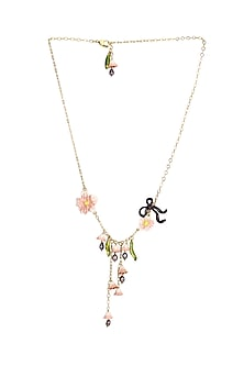 Gold Plated Painted Necklace by Brashbug