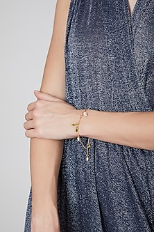 Gold Plated Pearl Bracelet by Brashbug