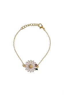 Gold Plated Floral Bracelet by Brashbug