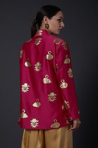 Fuchisa Block Printed Tunic by Balance by Rohit Bal