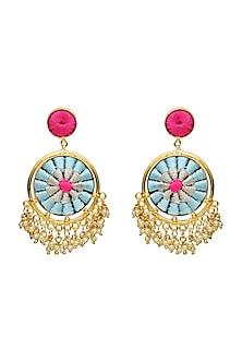 Gold Finish Brass Earrings by Bauble Bazaar