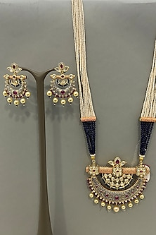 Gold Finish Beaded Necklace Set by Bauble Bazaar-POPULAR PRODUCTS AT STORE