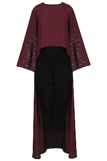 Oxblood Forest High-Low Top by Bhaavya Bhatnagar