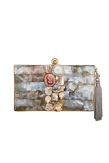 Gold Tassel Embellished Handcrafted Clutch by Be Chic